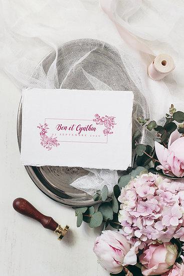 Faire-part de mariage The Pink