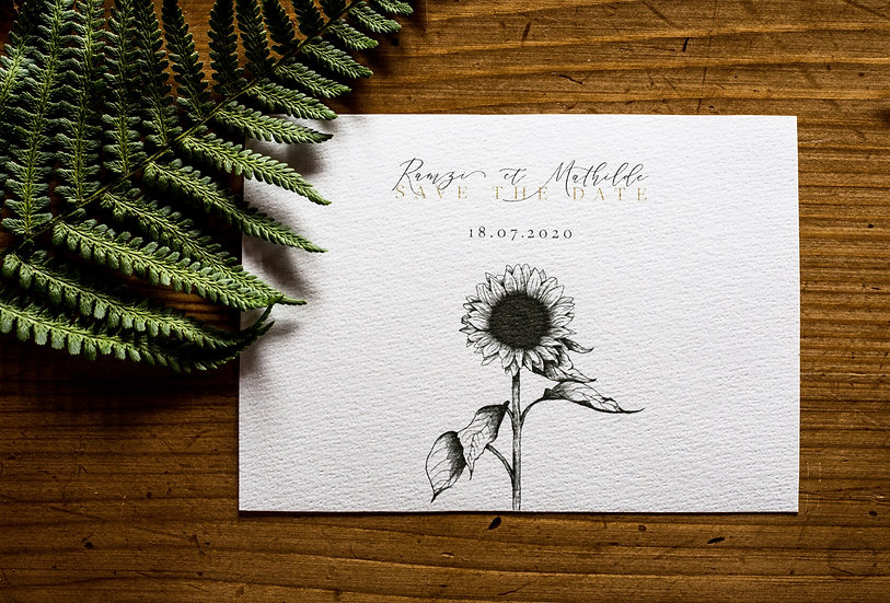 Save the date Sunflower
