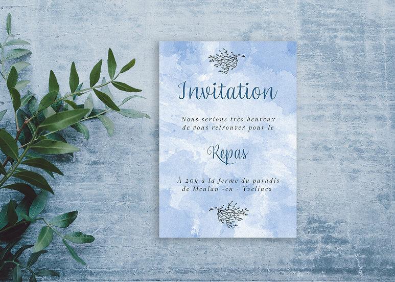 Invitation repas mariage Tree