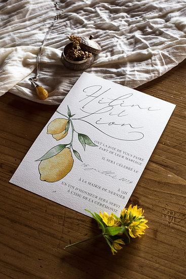 Faire-part de mariage Citrons