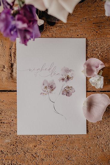 Faire-part de mariage Purple Love