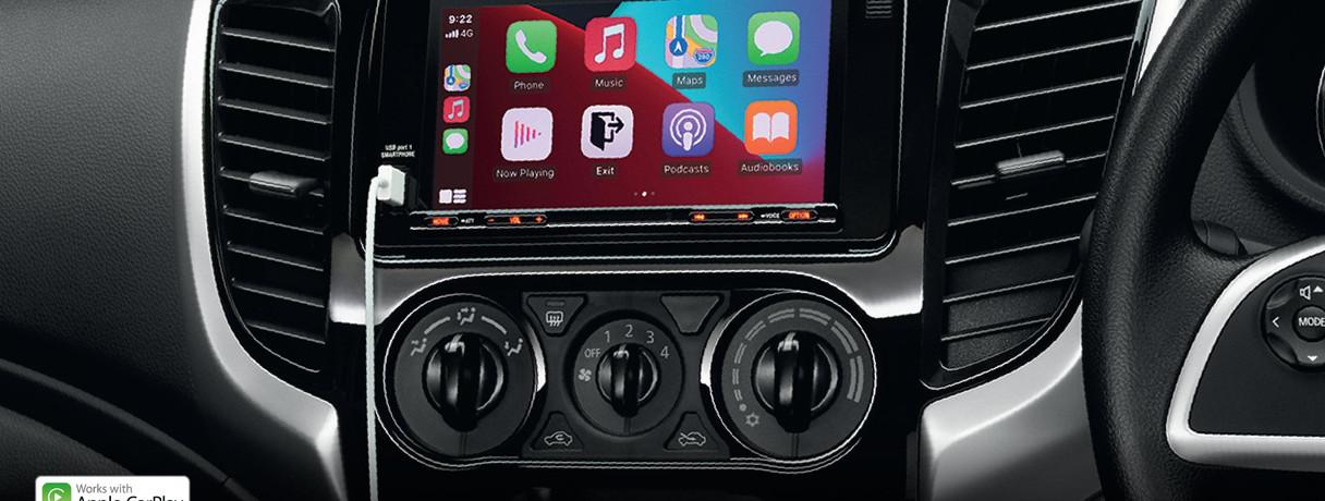 หน้าจอระบบสัมผัส 7 นิ้ว รองรับ Apple CarPlay