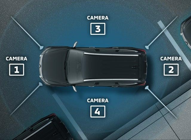 กล้องมองภาพรอบคัน - มองเห็นรอทิศทางผ่านกล้อง 4 ตำแหน่งรอบตัวรถ ที่ประมวนผลและแสดงภาพแบบ Bird's Eye View ผ่านหน้าจอมอนิเตอร์ ช่วยให้ผู้ขับขี่มองเห็นภาพได้รอบตัวรถ เพิ่มความปลอดภัยและความสะดวกสบายในการจอดรถ