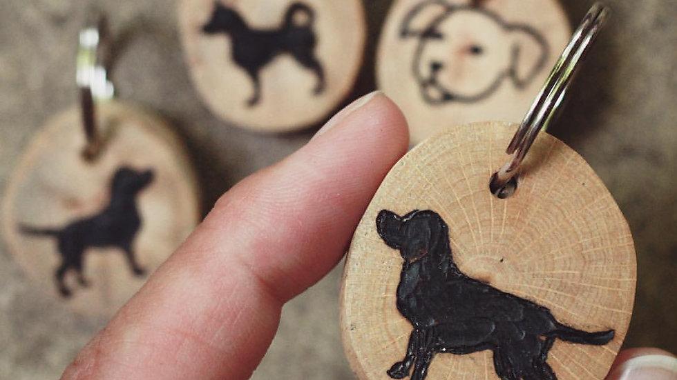 Individuelle Holz Hundemarke