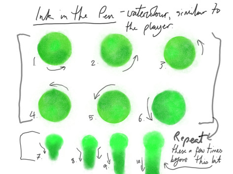Green ink animation draft