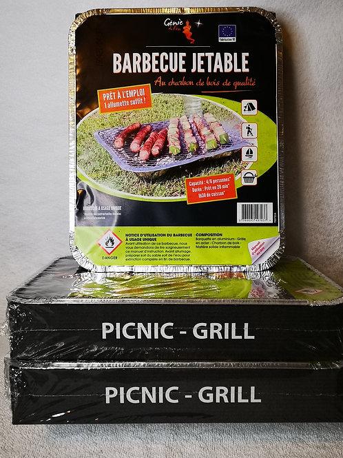 Lot de 3 barquettes Barbecue
