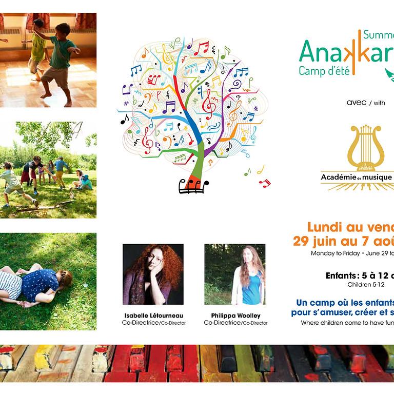 Registration form : Summer camp Anakkara/Académie de musique NDG  2020