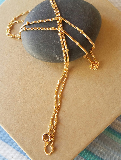 14K 10 mm Gold Filled Satellite ChainGold Satellite Necklace