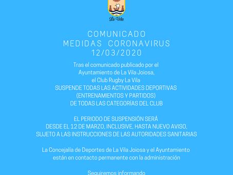 SE SUSPENDEN LAS ACTIVIDADES DEPORTIVAS DEL CLUB COMO MEDIDA CONTRA EL COVID-19