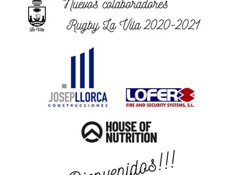 NUEVOS COLABORADORES SE UNEN A RUGBY LA VILA 2020/2021