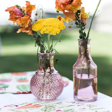 Assorted Pink Bud Vases