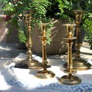 Large Brass Candlesticks