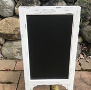 White Chalkboard Easel