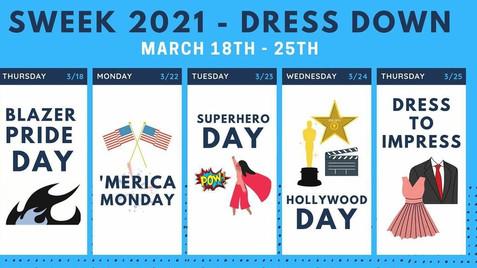 Spirit Week Events Announced.