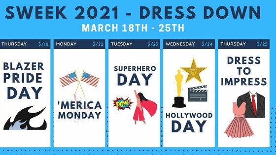 Spirit Week Events Announced.