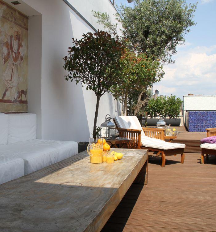 Blue Home _Mosaike Dachterrasse
