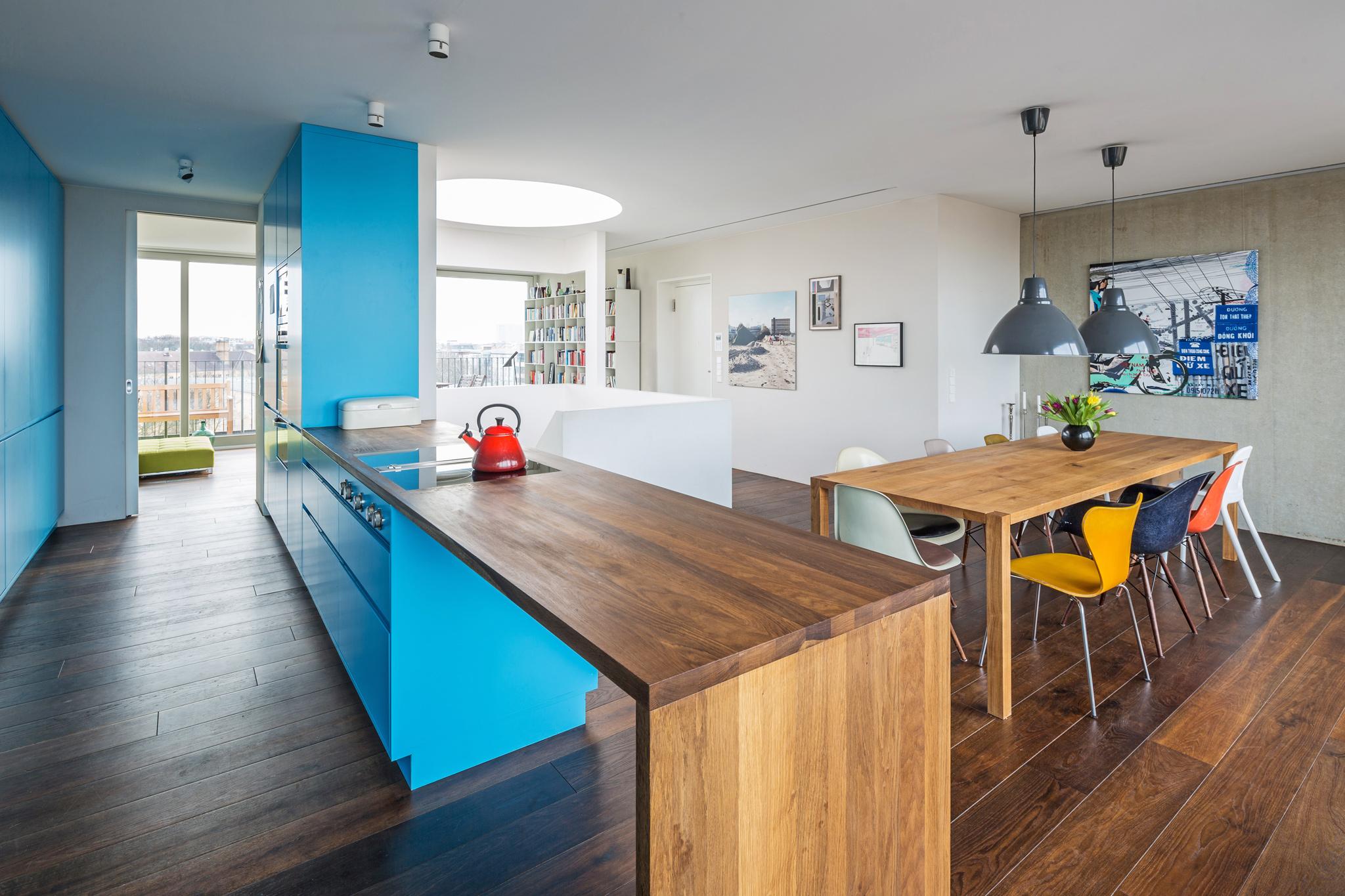 CHO 58 Blaue Küche
