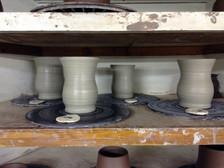 Wheelthrown Mugs, 2015
