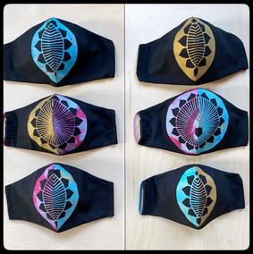 Silkscreen Printed Face Masks 2, 2020
