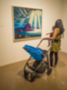 mother and baby view painting by Lawren Harris titled 'Lake Superior', AGO exhibit: The Idea of North