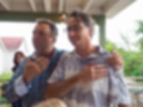 wine makers Doug Whitty and Rob Power, Creekside Winery, Jordan, Ontario, Canada