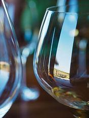 wine glasses, Wescott Winery, Jordan, Ontario, Canada