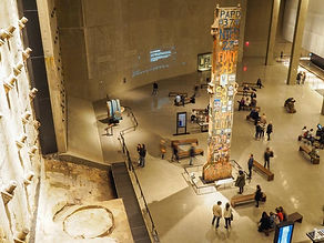 9/11 Museum. Slurry wall and the last column, dedicated May 30, 2002.