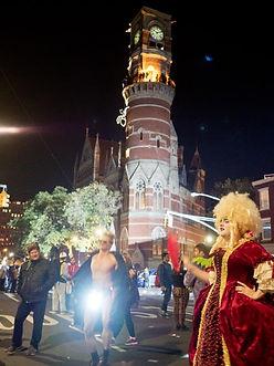 Halloween parade through Greenwich Village NY NY USA