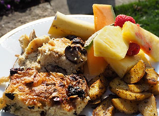 breakfast, fritatas, fruit salad, Jordan, Ontario, Canada