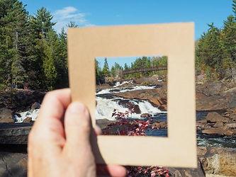 framing a waterfall