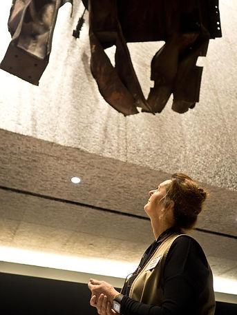 9/11 Museum. Steel facade, North Tower, World Trade Center, floors 96_99
