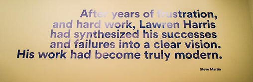 Steve Martin quote, about painter Lawren Harris, AGO exhibit: The Idea of North
