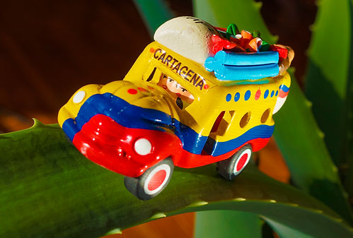 souvenir of mini bus, Cartagena, Colombia