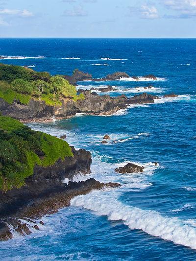 #11 coastal scene, Hana Highway, Hawai'i