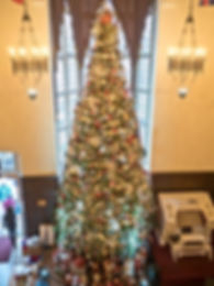 Christmas tree at Casa Loma