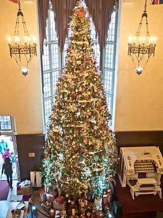 Christmas tree at Casa Loma