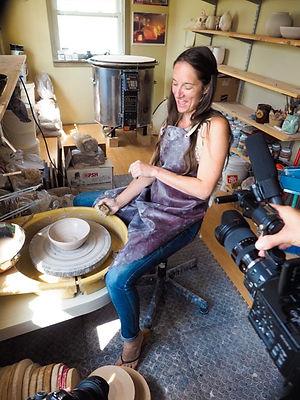 the shed pottery, ceramic artist Johann Munro, jordan, Ontario, Canada