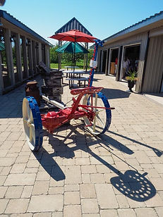 horse-drawn hay cutter, Kowalik Country Farm store