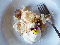 dessert, Niagara peach & pear shortbread crumble