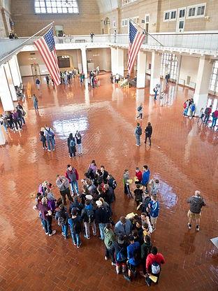 Processing hall, Immigration Museum, Ellis Island NY NY USA