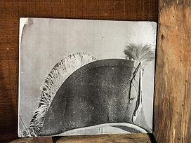 old photo of Sir Isaac Brock's hat, Balls Falls, Jordan, Ontario, Canada