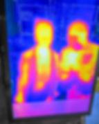 man and woman heat sensor image