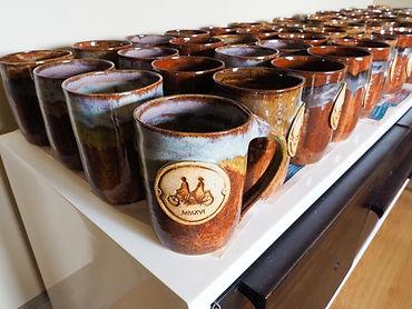 ceramic mugs by Johann Munro, the shed, Jordan, Ontario, Canada
