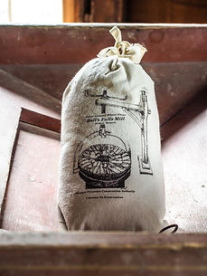 bag of flour from Ball's Falls mill