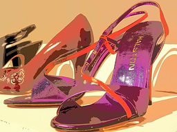 shoes designed by Halston