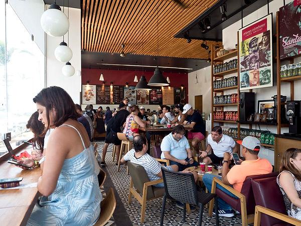 Juan Valdez coffee shop interior, Bocagrande, Cartagena, Colombia.jpg.jpg