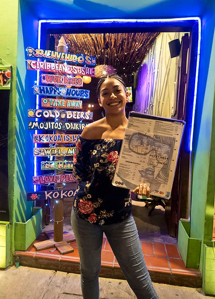 restaurant hostess, Getsemani, Cartagena, Colombiajpg