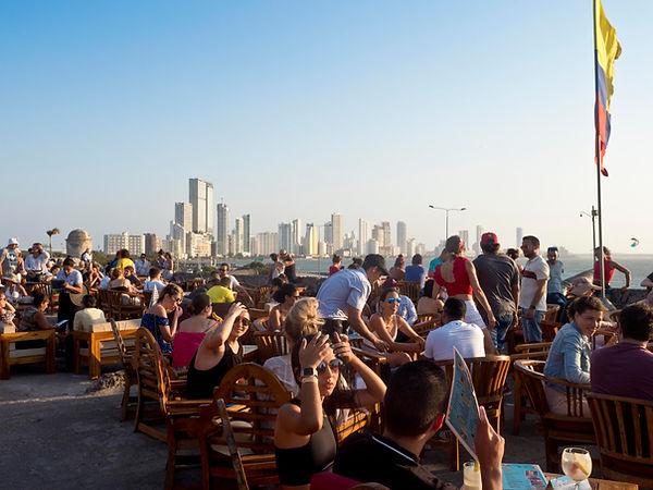 Café del Mar, Juan Valdez coffee shop interior, Bocagrande, Cartagena, Colombia.jpg.jpg