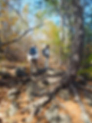 2 women hiking