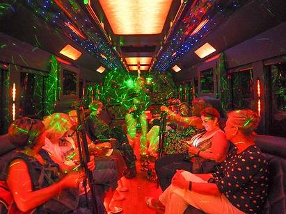 disco lights, bus interior, Coventry Transportation, Niagara, Ontario